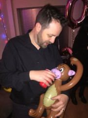 Even inflatable monkeys need a drink