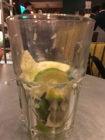 Glass full of lime slices